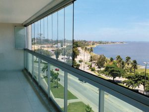 Kit Envidraçamento de varanda 6m Tec-vidro.
