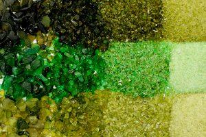 O vidro é 100% reciclado