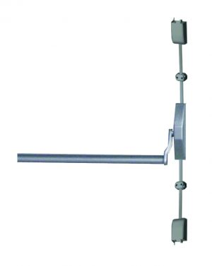 Barra antipânico Vertical Push Prata Soprano