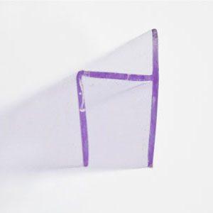 Perfil H vedação para vidro de 8mm