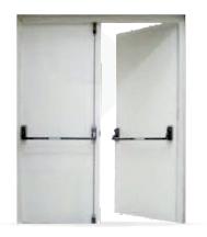 Porta Corta Fogo dupla pintura eletrostática.